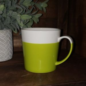 """5/$25""Large Crate & Barrel coffee mug"